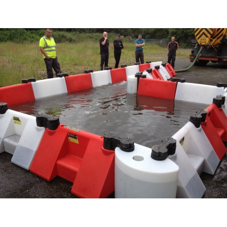 Connecteur barrage modulable anti-inondations