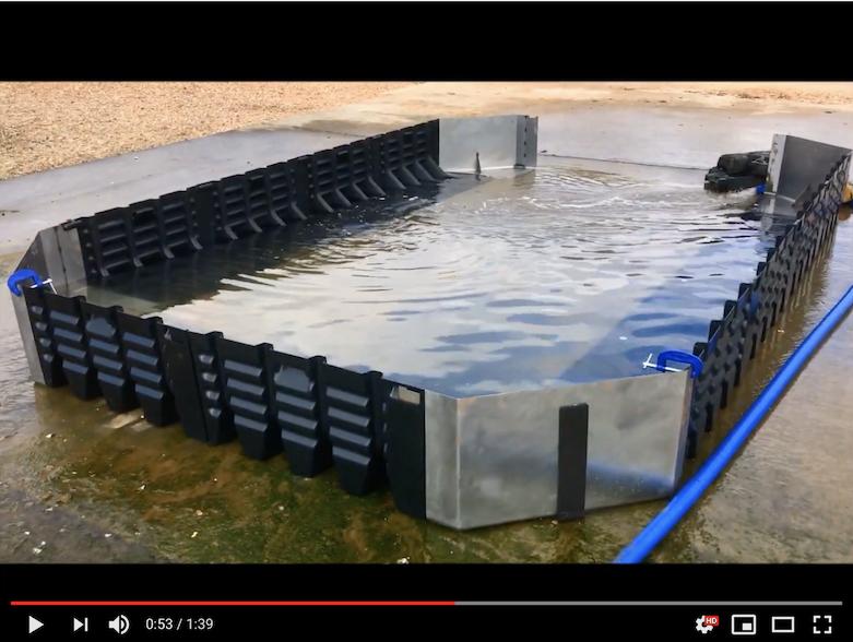 Vidéo barrière de protection inondations